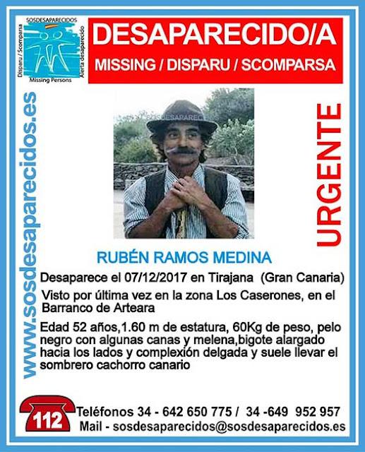 Hombre desaparecido en San Bartolomé Tirajana, Gran Canaria Rubén RammosMedina