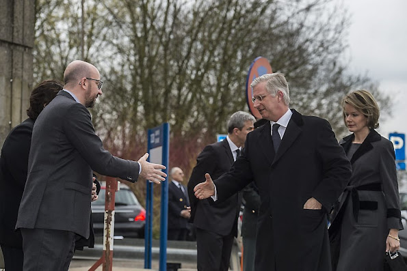 Following the attacks yesterday in Brussels Airport and the Brussels metro , Their Majesties the King and Queen visited Erasmus Hospital in Anderlecht. Also, The Royal Couple visited Brussels Airport in Zaventem