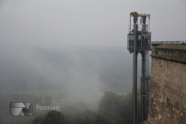 Twierdza Königstein - panoramiczna winda na Twierdzę