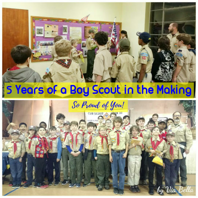 (Up to) 5 Years of a Boy Scout in the Making- So Proud of You!, Proud den leader, cub scouts, boy scouts, den 6, pack 33, via bella.