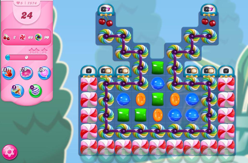 Candy Crush Saga level 7574