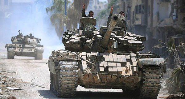 الجيش يطبق على فلول الإرهابيين,و مناشير فوق ريف درعا تدعو إلى المصالحة