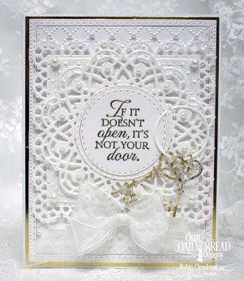 Our Daily Bread Designs Stamp Set: Key to Happiness, Our Daily Bread Designs Custom Dies: Keys, Doily, Layered Lacey Squares, Double Stitched Rectangles, Double Stitched Circles,