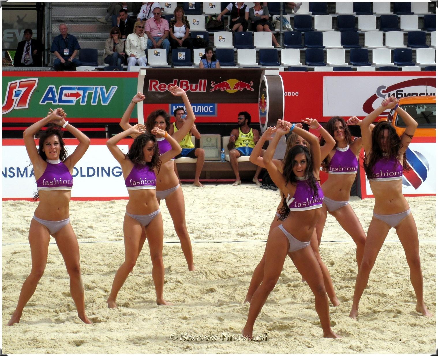 Beach Volleyball Dancing Fashion Tv Bikini Cheerleaders -1298
