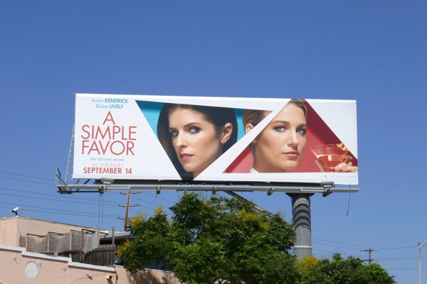 A Simple Favor film billboard