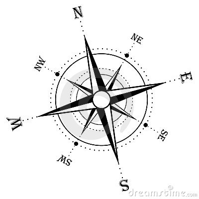 Color, collage, and much more: compass rose designs on metal