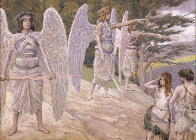 Expulsion from Paradise, painting by James Jacques Joseph Tissot (1836 - 1902)