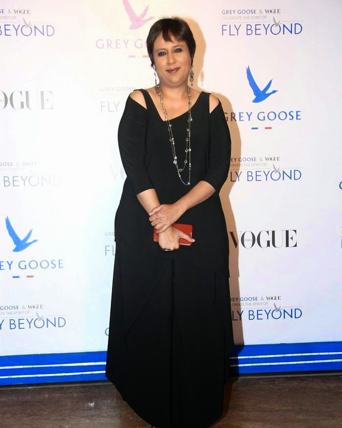 Barkha Dutt, Pics from Red Carpet of Grey Goose & Vogue's Fly Beyond Awards 2014