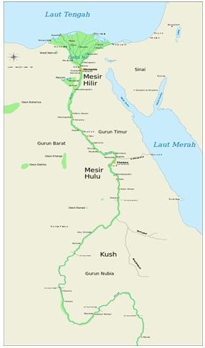 Peta Mesir Kuno