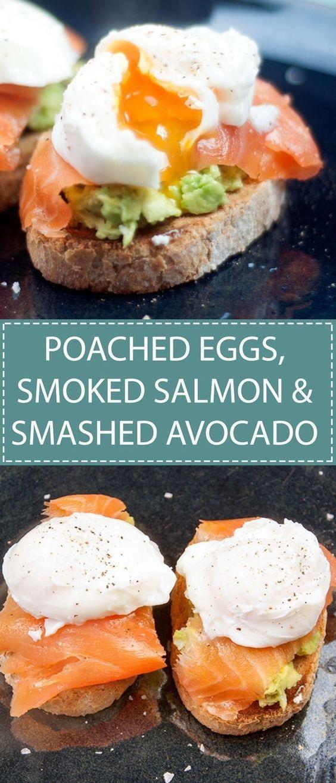 Poached Eggs, Smoked Salmon And Smashed Avocado