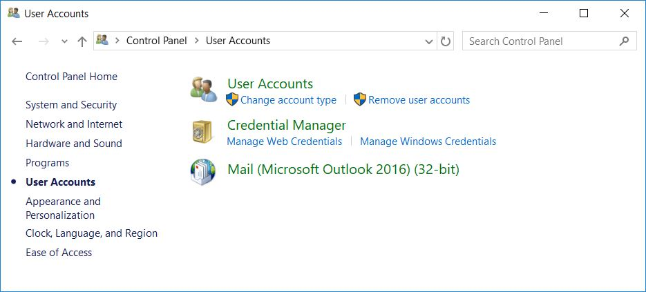 Windows 10: Logging out of the current Git account