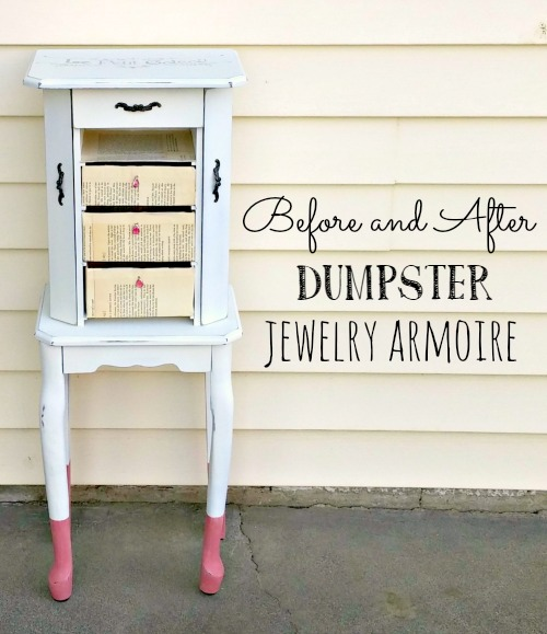 Before and After Dumpster Jewelry Armoire Little Vintage Cottage