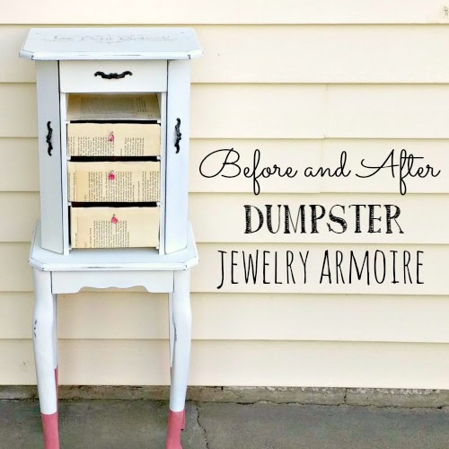 Before and After Dumpster Jewelry Armoire
