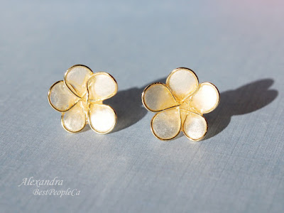 Forget Me Not Flower Post Stud Earrings by Alexandra BestPeopleCa