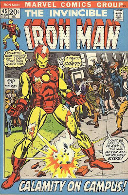 Iron Man #45, Calamity on Campus, Gil Kane cover