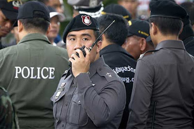 Thailand police officers