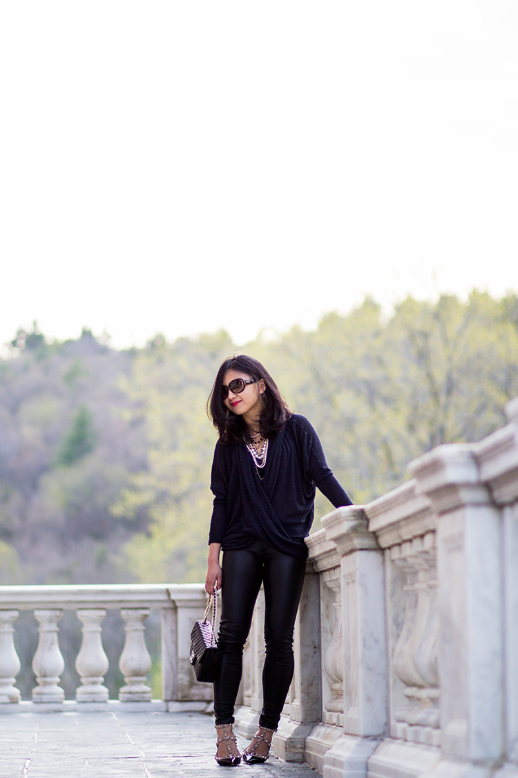 15809474b138 Review  Free People Drapey Wrap Front Sheila Hacci Knit Top - Elle Blogs