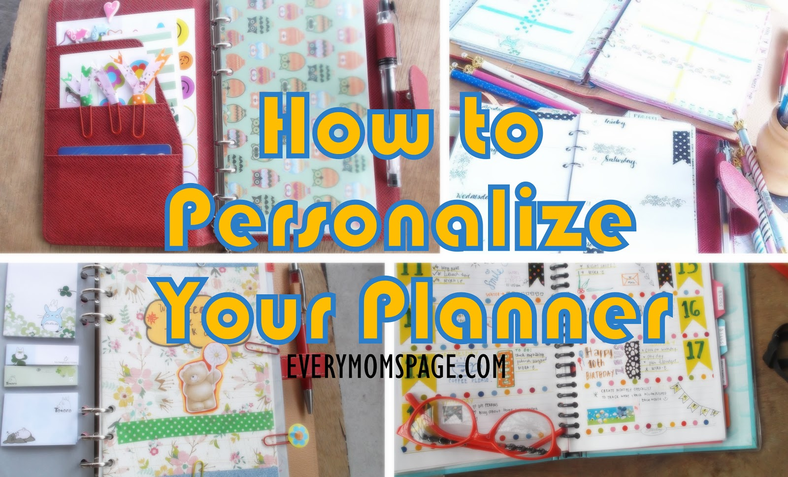 How to Personalize Your Planner