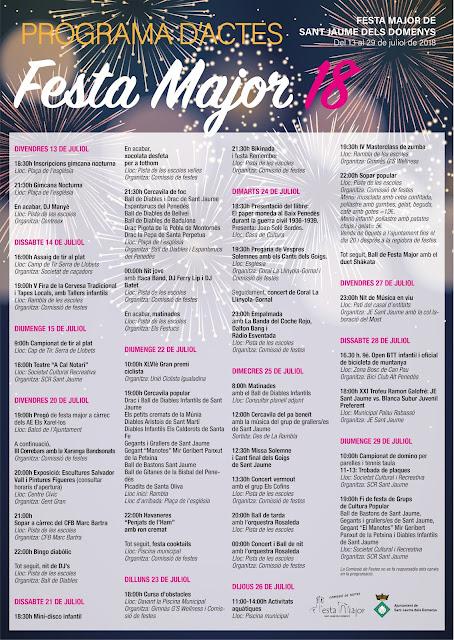 Esguard de Dona - Programa Festa Major 2018 Sant Jaume dels Domenys