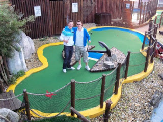 Christopher & Richard on hole 8 of the Victory Trail course