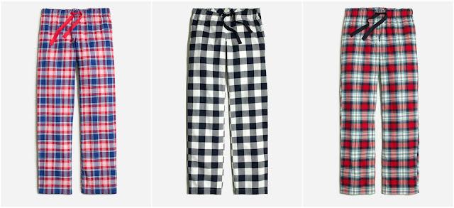 J. Crew Factory Yarn Dyed Flannel Pajama Pants $10 (reg $40)