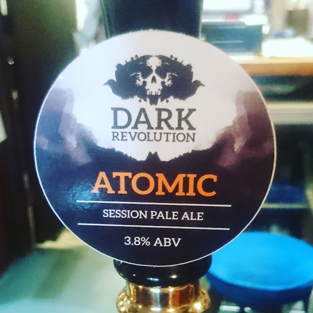 Wiltshire Craft Beer Review: Atomic from Dark Revolution real ale pump clip