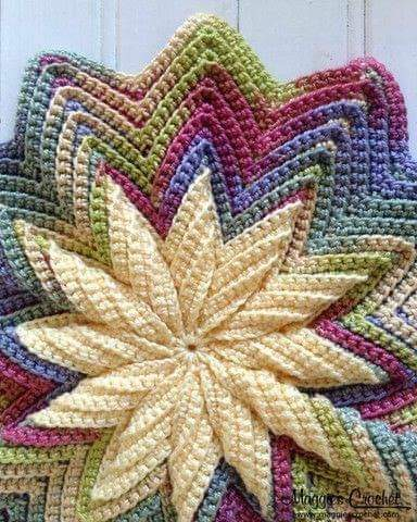 Crochet Flower Pad.  Tutorial Free.