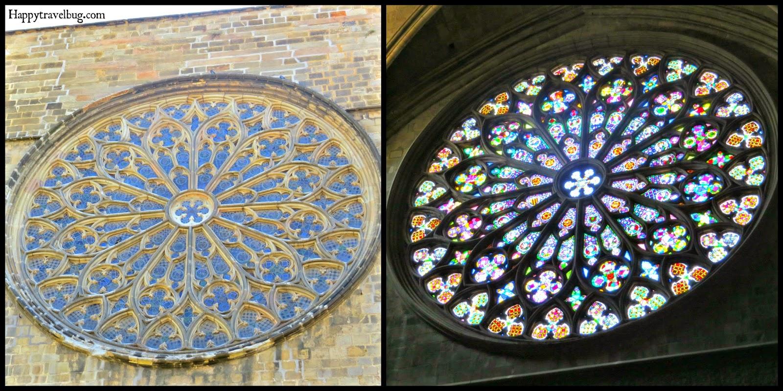 Stained glass window in The Basilica Santa Maria del Pi