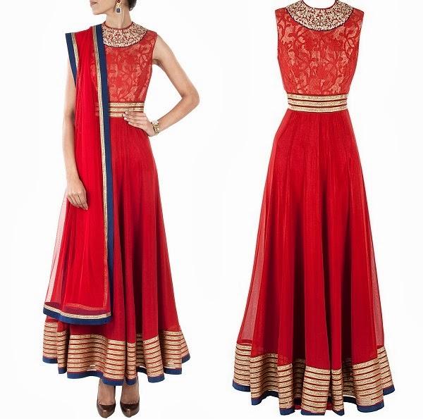High neck Anarkali Suits