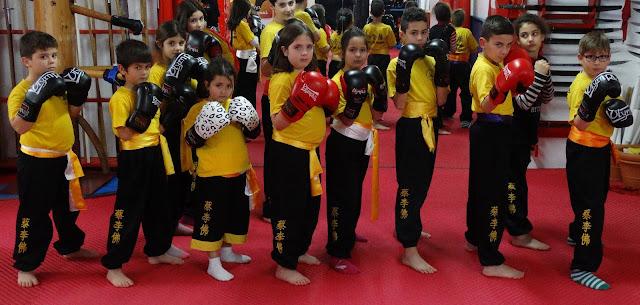 Προσχολικό τμήμα Kung-fu στη σχολή Choy Lee Fut Ναυπλίου
