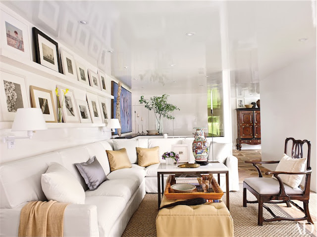 casa de playa en Long Island sofa blanco chicanddeco