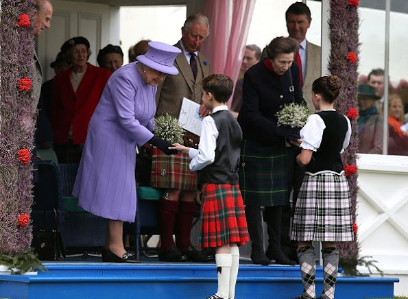 Queen Elizabeth, Prince Philip, Prince Charles, Princess Anne at the 2016 Braemar Highland Gathering in Scotland