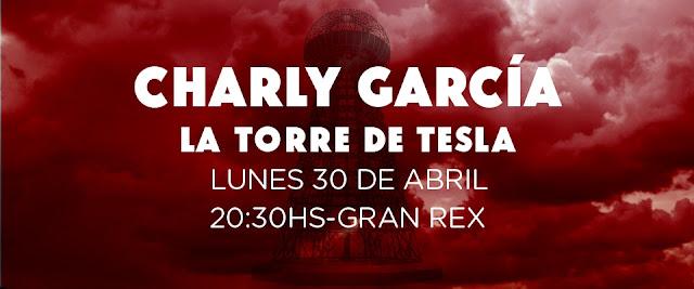 Precios y venta de entradas para Charly García en el Gran Rex 30/04