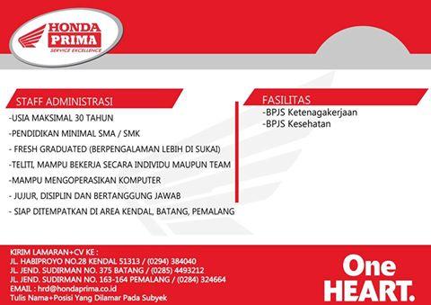 Lowongan Kerja Area Tegal Portal Info Lowongan Kerja Di Semarang Jawa Tengah Terbaru Lowongan Kerja Di Honda Prima Pemalang Kabar Pemalang Informasi