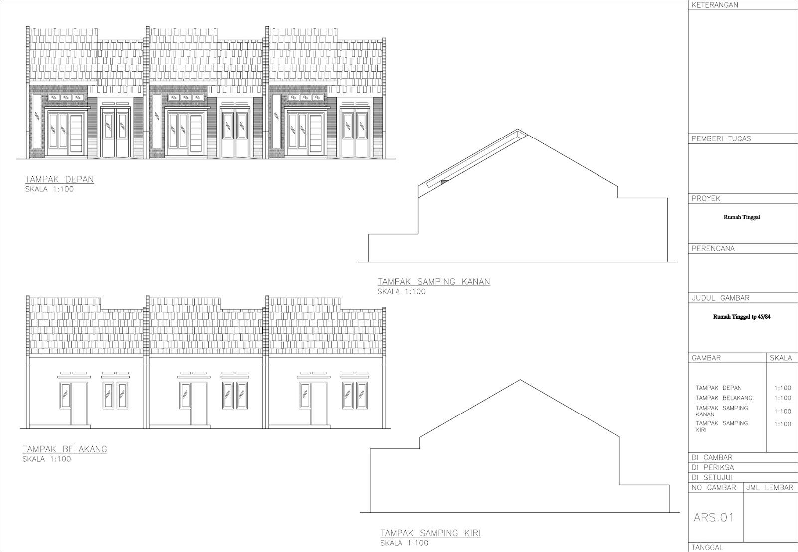 Renovasi Atap Baja Ringan Rumah Tipe 36 Site Plan View - Disain