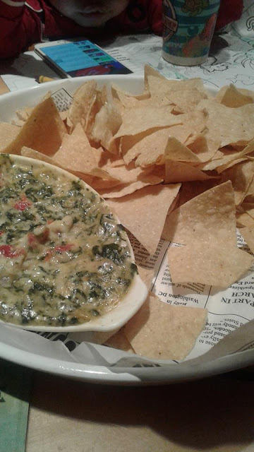 Bubba's far out dip with tortilla chips at Bubba Gump Shrimp Co