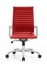Red Leather Boardroom Chair