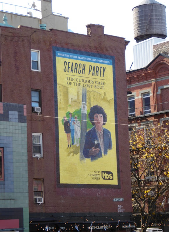 Search Party series premiere billboard NYC