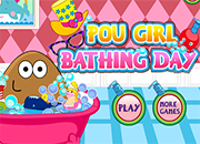 Pou Girl Bbathing Day 2 juego