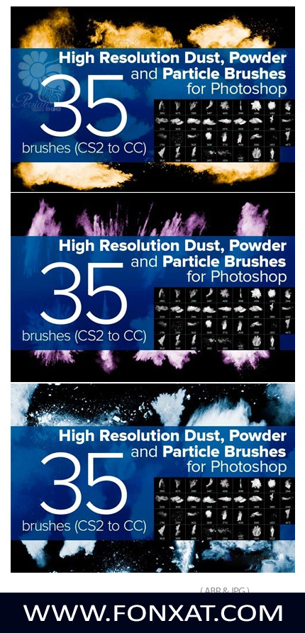 Download Photoshop brushes fine particles, dust, powder