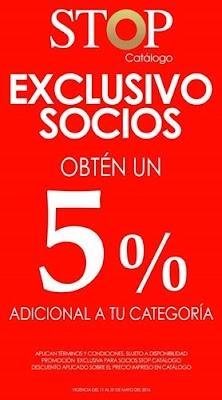 stop catalogo descuento 5% socios 2016