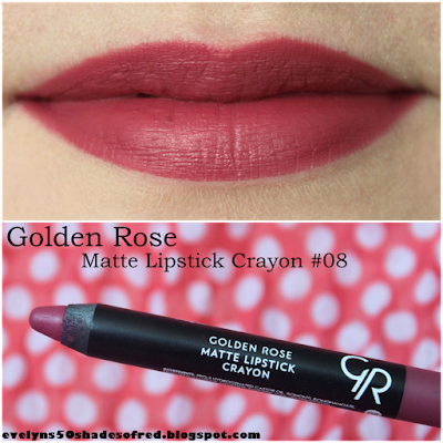 Golden Rose Matte Lipstick Crayon #08