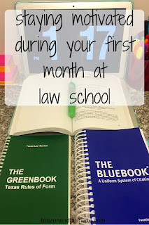 getting used to law school | brazenandbrunette.com