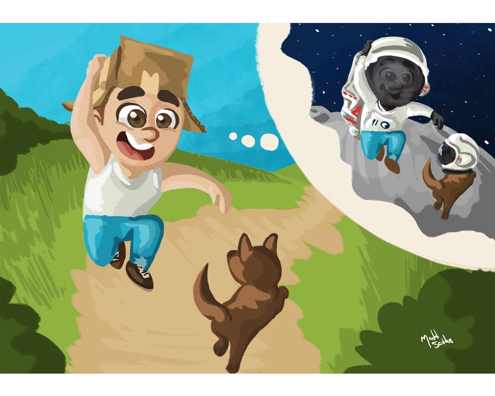 Coleção Ilustrações sobre a Imaginação das Crianças
