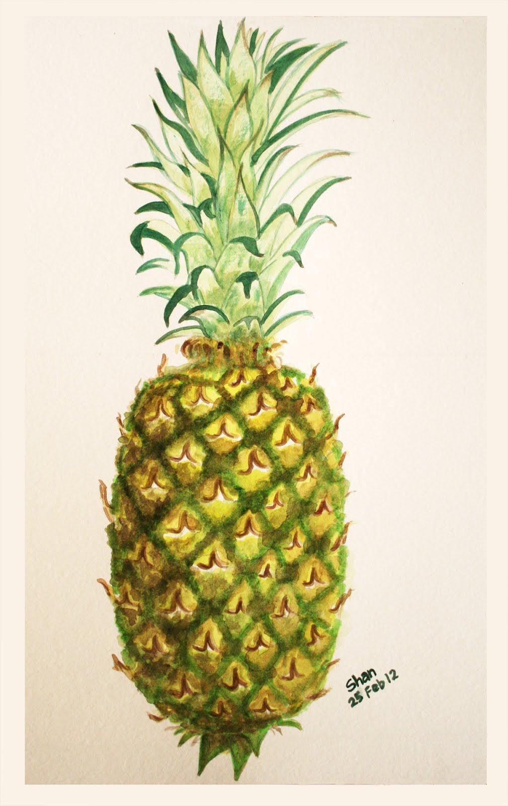 Shan S Art Pineapple Watercolor