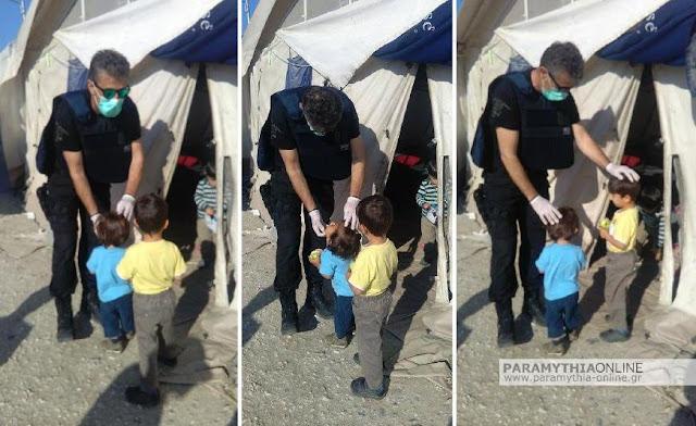 Ειδομένη: Το ανθρώπινο πρόσωπο των ανδρών της αστυνομικής διεύθυνσης Θεσπρωτίας