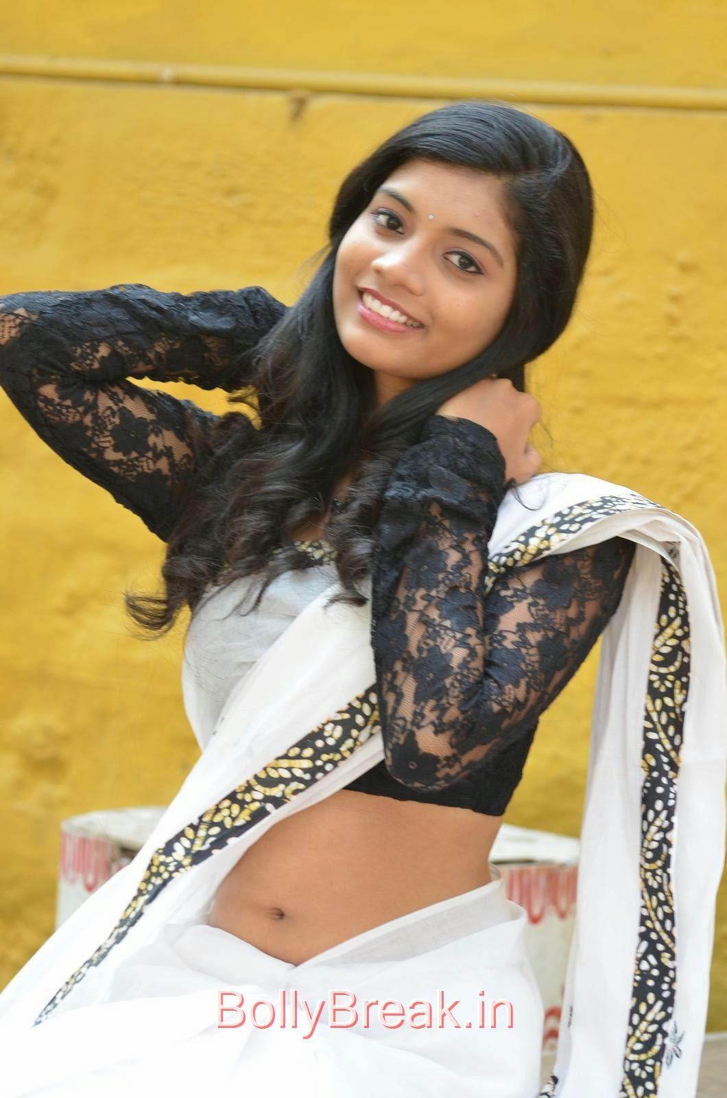 Bindu Photos, Bindhu Latest Hot Pics In White Saree