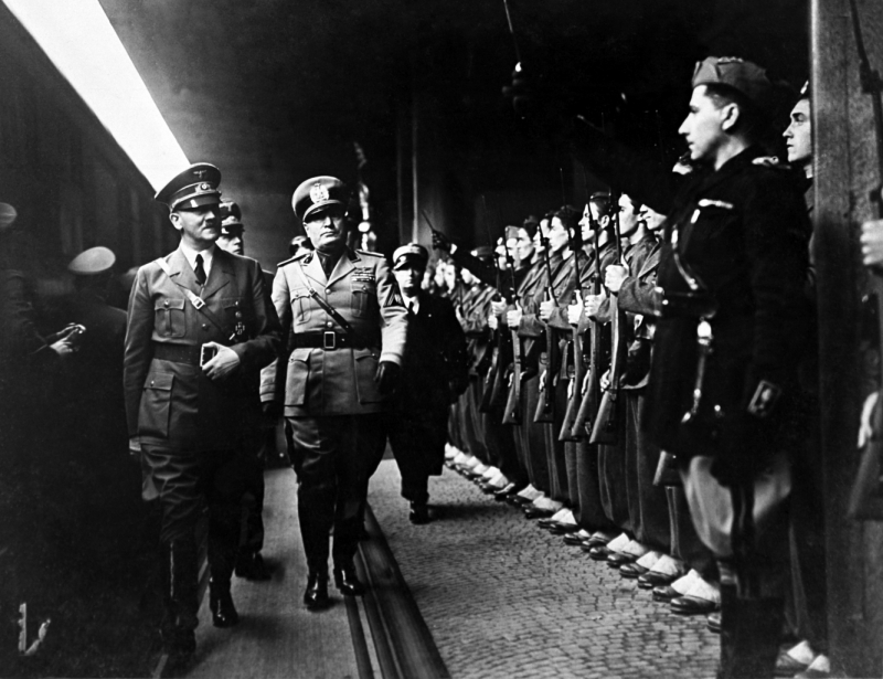 account of the life of the mass murderers adolf hitler and benito mussolini Benito mussolini was the less dominant half of the rome-berlin axis, formalized by the 1939 pact of steel between adolf hitler and himself world war ii broke out between germany and the rest of europe later that year, but italy—its resources already stretched thin by preexisting economic issues and mussolini's ethiopian conquest in 1935.