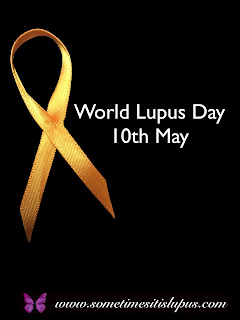 Image: orange ribbon. Text: World Lupus Day 10th May