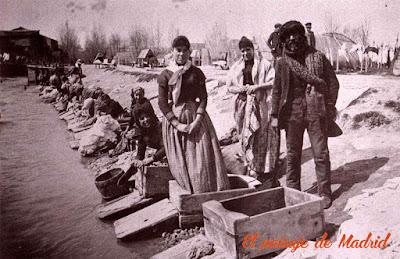 Lavanderas en el Manzanares